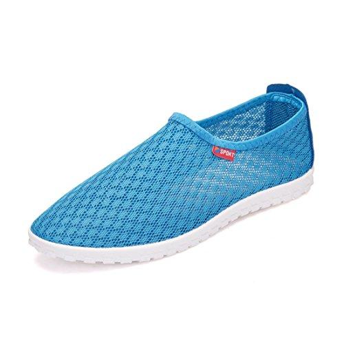 Men's Breathable Net Surface Casual Shoes blue