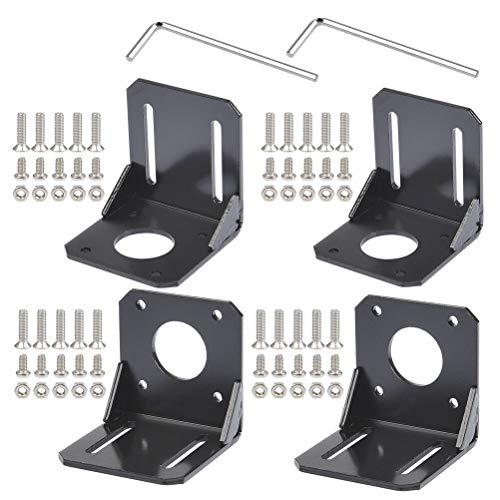 YOTINO 4PCS Nema 17 soporte de montaje de motor paso a paso con tornillos para impresora de impresora 3D