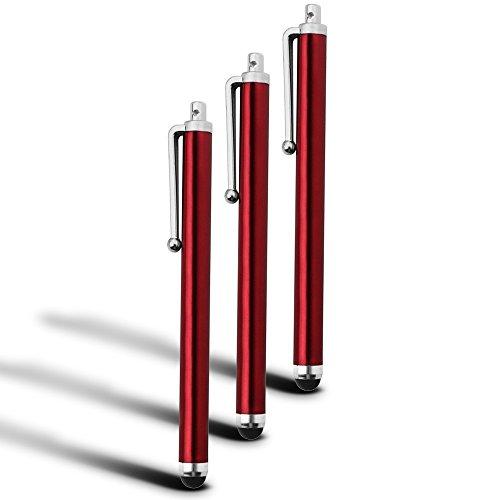(Red) BlackBerry Leap Kapazitive großen Touchscreen Stylus Pens 3 Pack ONX3®