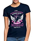Spreadshirt Prinzessinnen Im Motorrad-Outfit Frauen T-Shirt, M (38), Navy