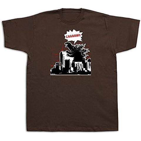 Godzilla scheletro film maglietta manifesto grande camicia enorme fumetto retrò mostro T