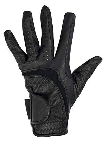 HKM Erwachsene Reithandschuhe -Soft Leder-9100 schwarzM Hose, 9100 schwarz, M