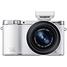 """Samsung NX3000 - Cámara EVIL de 20.3 Mp (pantalla 3"""", estabilizador óptico, vídeo Full HD), color blanco - Kit cuerpo cámara con objetivo 20-50mm f/3.5-5.6 ED OIS"""