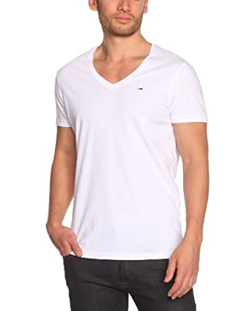 Hilfiger Denim Herren T-Shirt Slim Fit Panson vn tee s/s KIR / 1957826352, Gr. 50 (L), Weiß (100 CLASSIC WHITE)