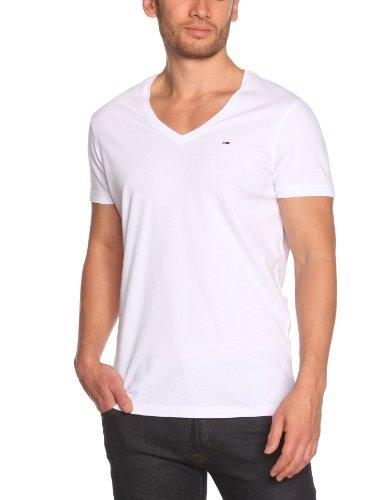 Hilfiger Denim Herren T-Shirt Slim Fit Panson vn tee s/s KIR / 1957826352 Weiß (100 CLASSIC WHITE)