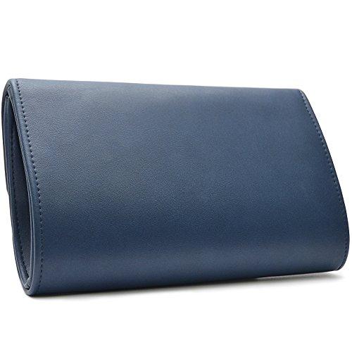 Vain Secrets Damen Umhänge Tasche Clutch Abendtasche in vielen Farben Blau