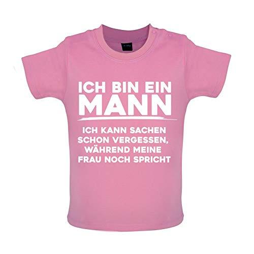Ich Bin EIN Mann, Ich Kann Sachen Schon Vergessen, Während Meine Frau Noch Spricht - Witziges Baby T-Shirt - Bubble - 12-18 Monate (Im Mit Dumm Tshirt)