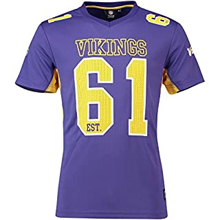 Majestic Athletic Minnesota Vikings NFL Moro Poly Mesh Jersey Tee T-Shirt Trikot