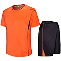 IOSHAPO Short Sleeve Sport Shirt Hombres Quick Dry Boys Running Camisetas  Gym Clothing Mens Soccer Jerse 01bf93aa4957b