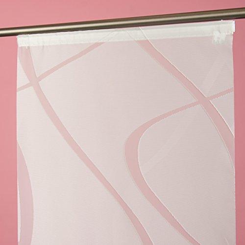 SchÖner leben. bello da vivere. beautissu wave - tenda a pannello, 245 x 60 cm, colore: bianco