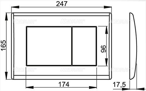 WC Vorwandelement für Trockenbau 120 cm inklusive Betätigungsplatte Chrom Matt Typ Quadro Unterputzspülkasten Spülkasten Wand WC hängend Schallschutz