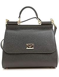 Dolce E Gabbana Femme BB6002A100189999 Noir Cuir Sac À Main eed4cfdb6942