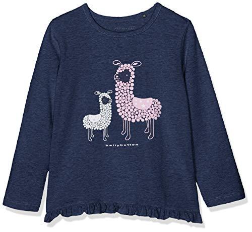 Bellybutton Kids Baby-Mädchen Langarmshirt T-Shirt 1/1 Arm, Blau (Uzunada Navy Mel|Blue 8452), 86 -