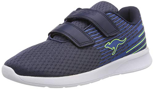 KangaROOS Unisex-Erwachsene KF Act V Sneaker, Blau (Dk Navy/Lime 4054), 41 EU