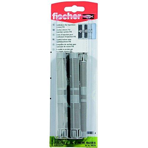 Fischer 44578 Lot de 4 Tamis pour scellement chimique FIS H 16 x 130 mm K K