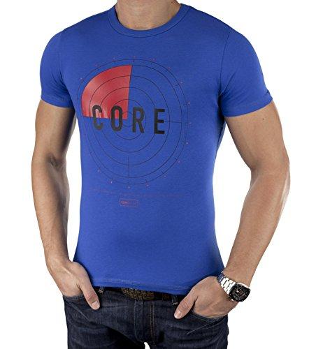 JACK & JONES Herren T-Shirt SPRING, Einfarbig Blau