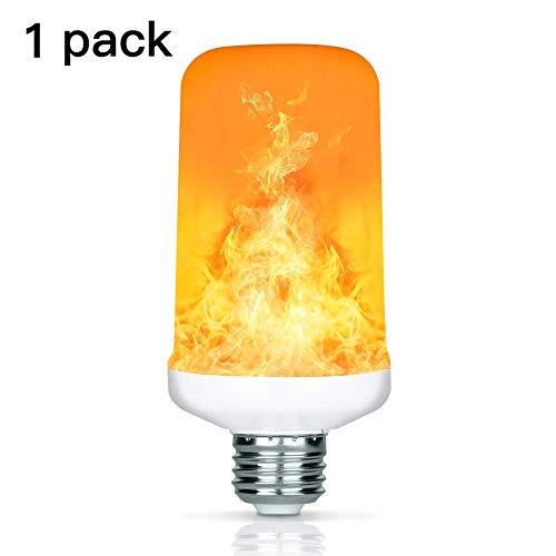 7W LED Flamme Effekt Glühbirne, YuamMei 4 Modi mit dem Kopf, E27 Basis Dekoration Flackerndes Feuer Licht für Halloween/Weihnachten / Home/Bar / Restaurant/Party (1 Pack)