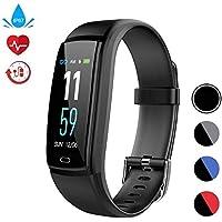 Fitness Tracker Pulsmesser Activity Tracker Watch Farbdisplay Smart Armband mit Schlafmonitor und Blutdruck IP67 Wasserdicht Smart Armband für Android und IOS