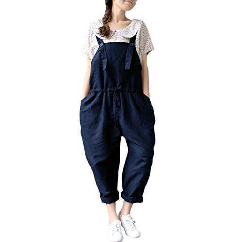 sized Jumpsuits Lätzchen Lose Long Hosen Anzug Trainingsanzug Overall (M, Blau) (Die Lange Halloween-batman)
