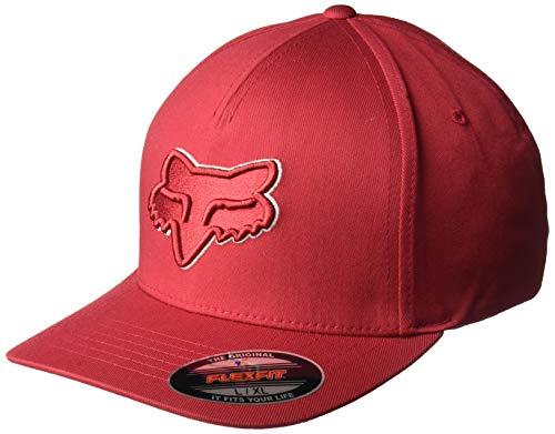 Fox Herren Epicycle Flexfit HAT Baseball Cap, Scharlachrot, Small/Medium Flex-fit Cotton Twill Cap
