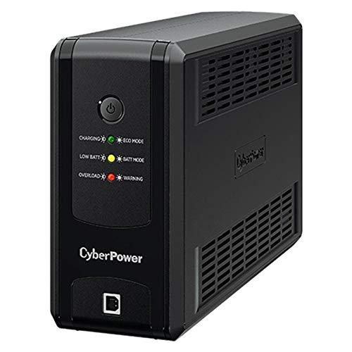 CyberPower USV für PC/NAS 425W, USB-Kommunikation, Greenpower-Technologie, AVR, 3X Schuko, 20 Minuten bei 90W, 6 Minuten bei 200W, UT850EG
