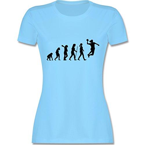Evolution - Handball Evolution Damen - S - Hellblau - L191 - Damen Tshirt und Frauen T-Shirt