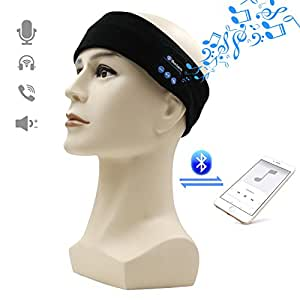 bluetooth headphones headband amytech amytech wireless yoga sports headband sleep headphones. Black Bedroom Furniture Sets. Home Design Ideas