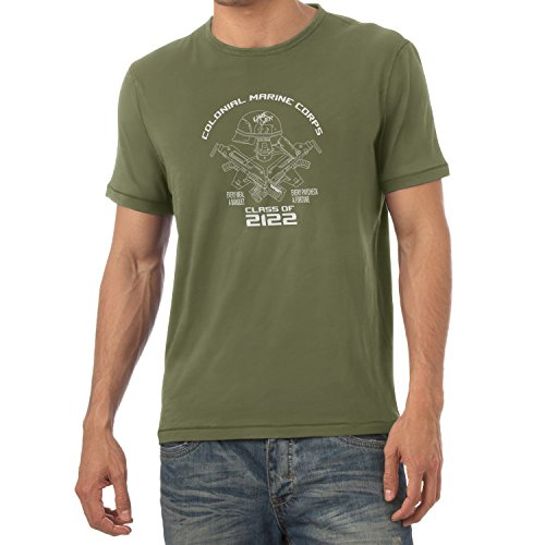 Texlab Herren Colonial Marine Corp Class of 2122-Herren T-Shirt, Oliv, M -