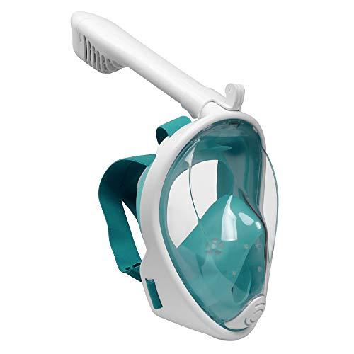 Emsmil Kinder 180°Schnorchelmaske Tauchmaske Schnorchelset Vollmaske Taucherbrille mit Anti Fog und Anti Leak Easybreath für GoPro Schwimmen und Tauchen Kinder XS Grün