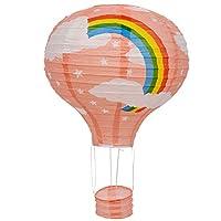 TOOGOO(R) 12inch Hot Air Balloon Paper Lantern Lampshade Ceiling Light Wedding Party Decor, Blue Rainbow