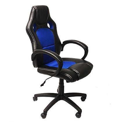 NAWA Silla Gaming de Ordenador Silla Gamer. Cadeira de Escritório. Cadeira Gamer Ergonómica de Malla Transpirable para Home Office (Azul)