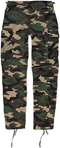 Zip Off BDU Feldhose mit per Reißverschluss abtrennbaren Hosenbeinen Farbe Woodland Größe XL Polar Shorts