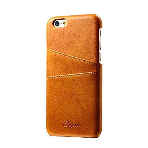 Xiaopangzi Magnetische PU-Leder-Handyhülle mit ID-Kartenhalter und Halterung für iPhone 6 / 6s 6P 7 7P (for iPhone 6/6s, Red) Khaki