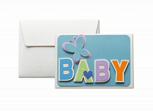 Baby - azzurro - biglietto d
