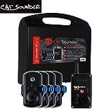Catsounder XRS 4er Set - 4 Wallerbissanzeiger + Receiver, Bissanzeiger zum Wallerfischen, Funkbissanzeiger zum Wallerangeln, Bissmelder für Wels