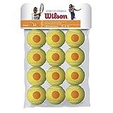 Wilson WRT137200 Palline da Tennis Starter Orange, per Bambini, Giallo/Arancione, Confezione da 12