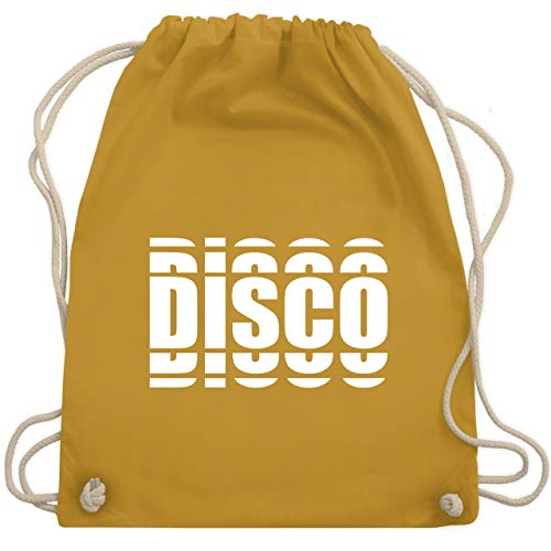 Festival Turnbeutel - Disco in Grafischem Muster - Unisize - Senfgelb - WM110 - Turnbeutel & Gym Bag
