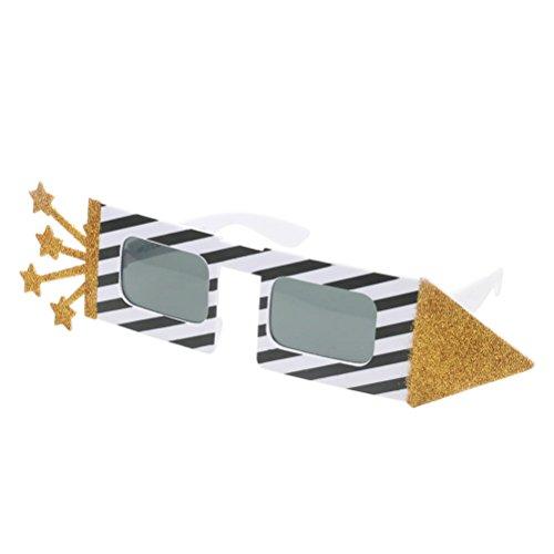 oldene Rocket Shaped Sonnenbrille Sterne Sonnenbrille für Party Requisiten (Gute Halloween-pc-spiele)