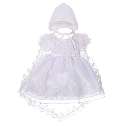 befb6717580 Lito Angels Bébé Filles Broderie festonnée perlée Baptême robe de baptême  cape bonnet taille infantile 3