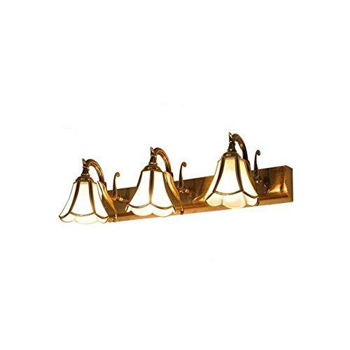 TOYM UK Voll Bronze Spiegel Scheinwerfer American European wasserdichte Badezimmer Spiegelschrank Schminktisch Spiegelleuchten Wandleuchte (Farbe : 3 Light)
