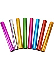 IGNPION set of 8 Aluminum track and field Athletics Sprint relay batons with Multicolor