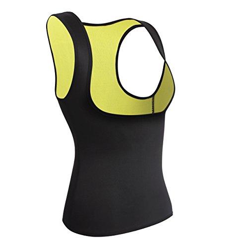 Damen Hot Sport Weste,Schweiß Neopren Body Shaper Korsett Waist Taille Cincher Sauna-Anzug (S(Fit 24.4-28.3 Inch Waist), Black(3-5 Days Delivery))