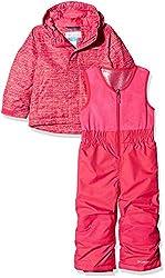 Columbia Sportswear Kids Buga Set Ski Jacket, Cactus Pink Texture Print, 2t