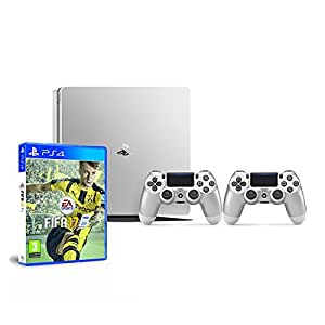 PlayStation 4 500 Gb Silver + Dualshock Silver + FIFA 17