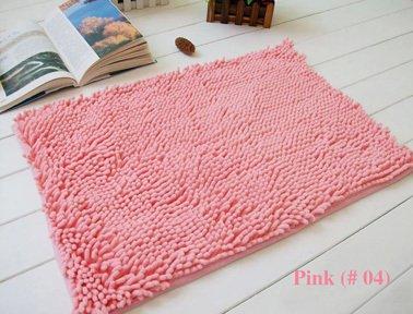 Lnxd Home Decoration Badematten Chenille Teppich Matten Fußmatte Küche Badezimmer saugfähigen Rutschfeste Matte Tapete können angepasst werden, Rosa 04,500 Mmx 800mm