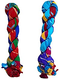 Stuvi Trendz Chiffon Yellow And Blue Multicolor Dupatta For Women And Girls Combo Pack Of 2