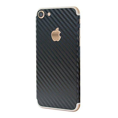 Strukturierte selbstklebend Vinyl Haut Aufkleber für Apple iPhone 711,9cm Modell, Black Carbon Fiber (Apple-aufkleber Carbon Fiber)