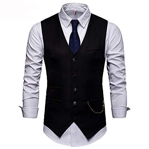 Showu Herren Paisley Weste Slim Fit Geschäft Hochzeit Elegant Anzugweste Stil Blazer Button Shirt Jacke