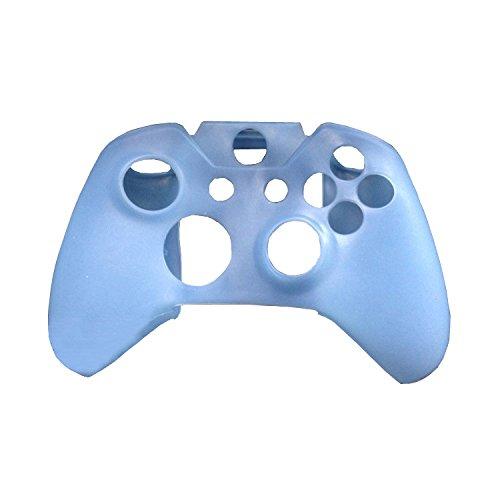 Ostent custodia morbida in silicone per custodia protettiva in silicone compatibile per controller microsoft xbox one - colore azzurro