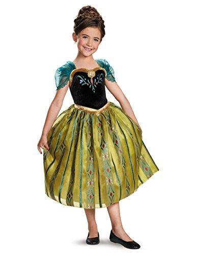 Frozen Deluxe Kostüm Kids Anna Coronation Classic Bademantel, Gr. M, Alter 7-8 Jahre, Höhe 4'2.54 cm - 4'12.70 (Anna Coronation Kostüm)